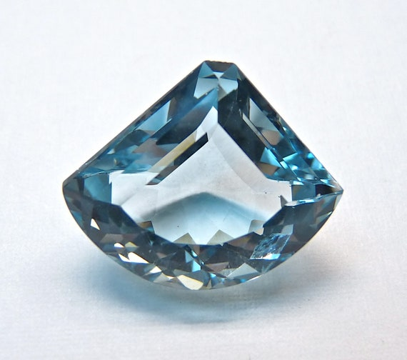 SALE 18.12 CT AAA Aquamarine blue quartz Africa fancy cut-Undrilled-17.7x21.3 mm No.6