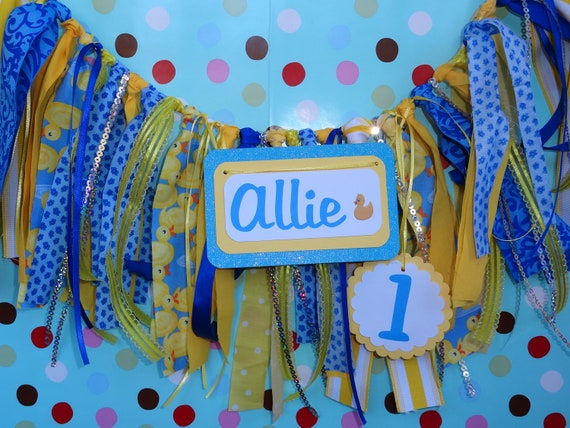 Blue and Yellow birthday banner