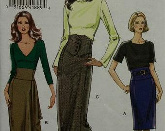 Slim Skirt Set 2000s Vogue Pattern 8425  Uncut Sizes 4-6-8-10