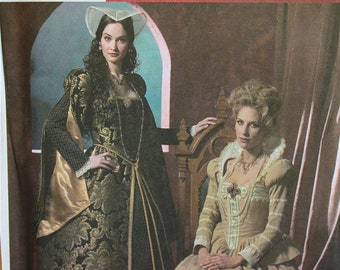 Designer Dresses by Wrights' Andrea Schewe Tudor Costume Collection Simplicity Pattern 4508  Uncut   Sizes 8-10-12-14, 16-18-20-22-24