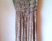 S M Button Front Leopard Print Sleeveless V-Neck Summer Dress