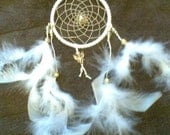 DreamCatcher..'Guardian Angel'..White, 4-Inch Ring..