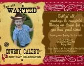 Cowboy Printable Birthday Invitation