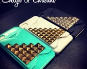 Stud iPhone Case with credit card holder