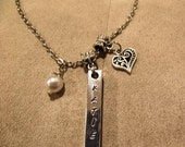 4 Sided Personalized Bar Necklace