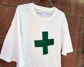 Green Cross Marijuana Dispensary uniform Shirt or white cross on colors