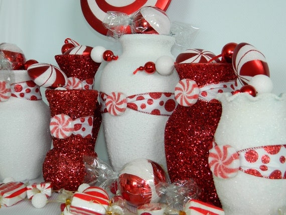 Christmas Wedding Centerpiece, Christmas Wedding Decorations, Winter Wedding, Xmas Wedding, Christmas, White, Xmas Decorations, Party, Red