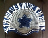 Baby Dallas Cowboys Hat with Mohawk