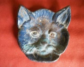 Cast Iron Cat Face Ashtray or Catch-all Very Vintage