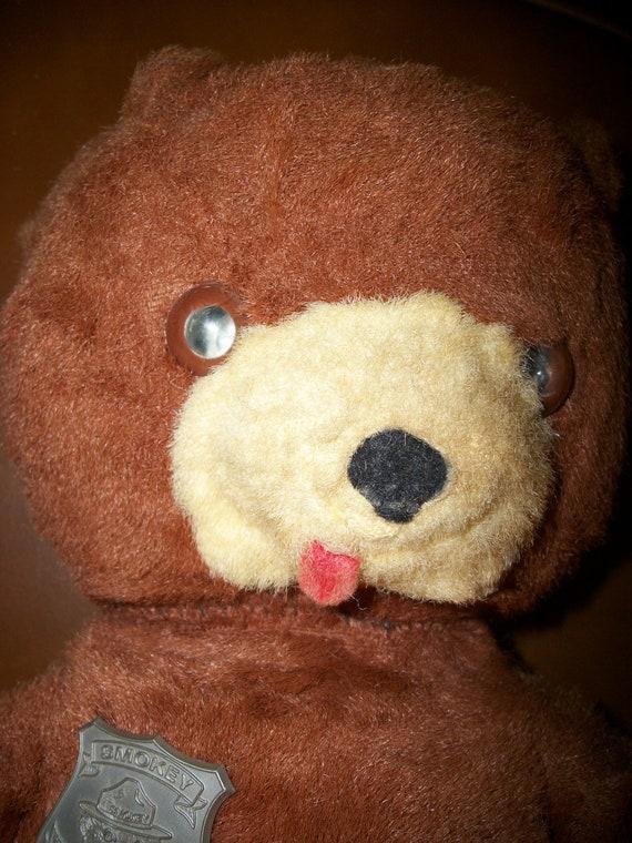 Circa 1960 S Vintage Stuffed Talking Smokey The Bear With