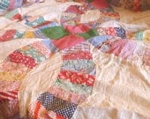 Vintage Double Wedding Ring Quilt Top/  Top Only / For Shannon