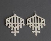 Cutout Gate Earring (Silver)