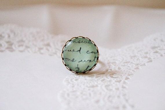 Romantic Aqua Ring