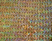"SALE--50% off--Gold Spotlight All over Sequins on Gold Stretch Springweave 42"" width"