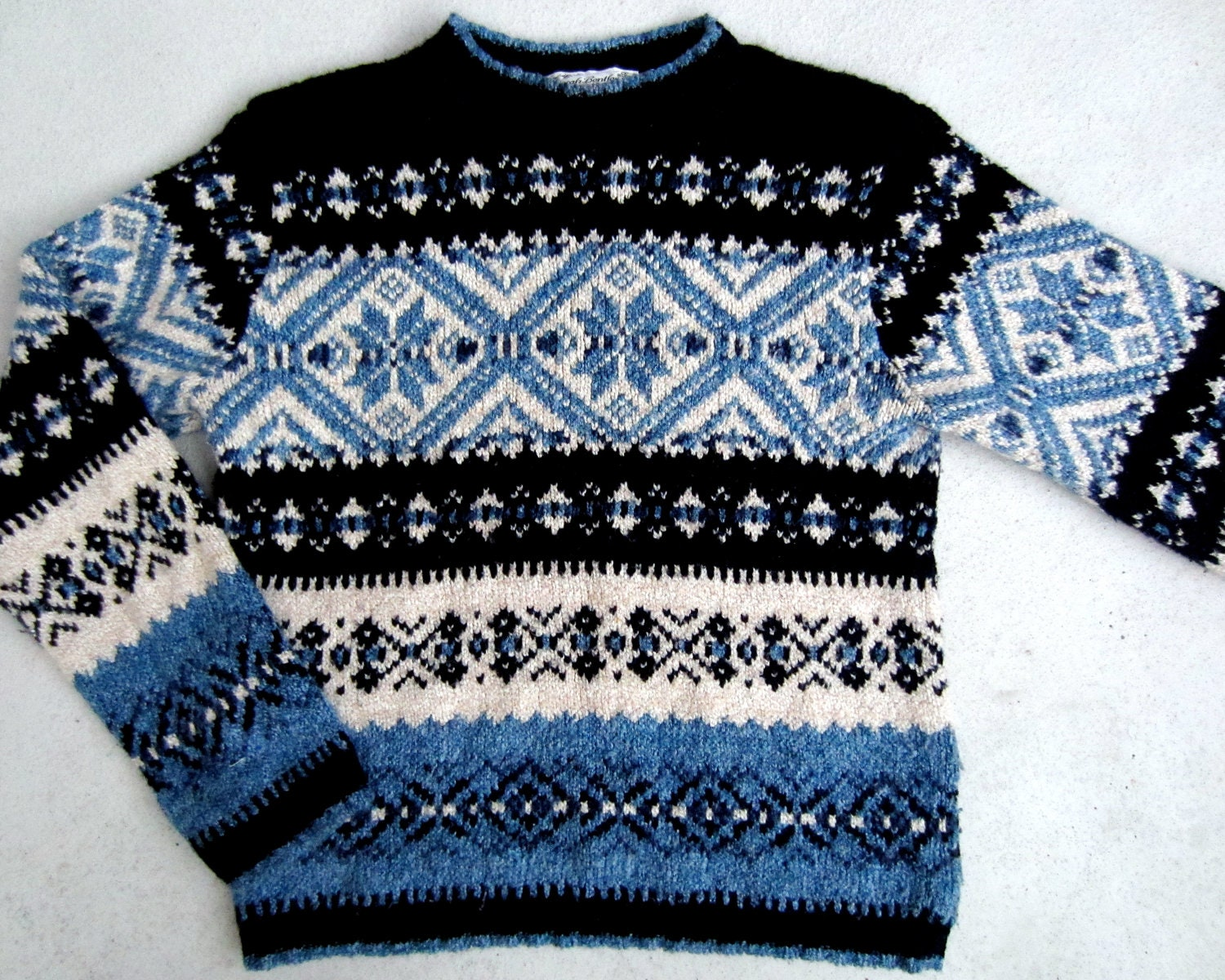 Nordic Christmas Sweater - Cardigan With Buttons