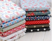 Printed Cotton Canvas Floral Waterproof Fabric by the Yard for Handmade Bag,Tablecloth