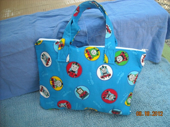 Handmade Thomas the Train Child's Tote  (back to school or 1st time going)