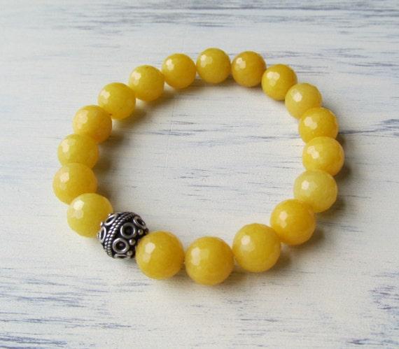 PEACE & JOY Yellow Jade Healing Bracelet
