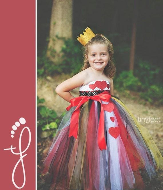 Vestito regina di cuori per bambina