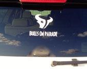 Houston Texans Decal - BULLS ON PARADE - Car Decal