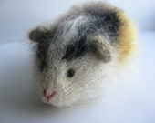 Mohair Guinea Pig, Knitted Guinea Pig,, Stuffed model animal,
