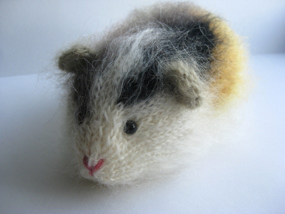 Mohair Guinea Pig Unusual Gift OOAK Knitted Guinea Pig