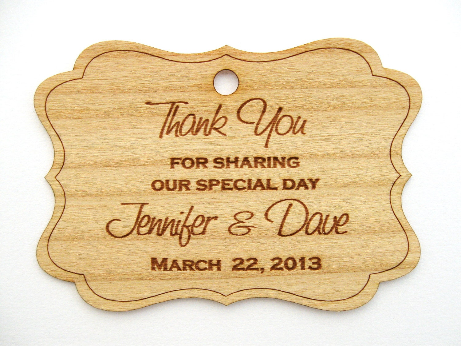 Rustic wedding favors Wooden Tags Favor Tags Thank by Talathiel
