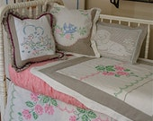 Shabby Chic Baby Bedding/Crib Bedding - Reserved Listing for Baby Juliette