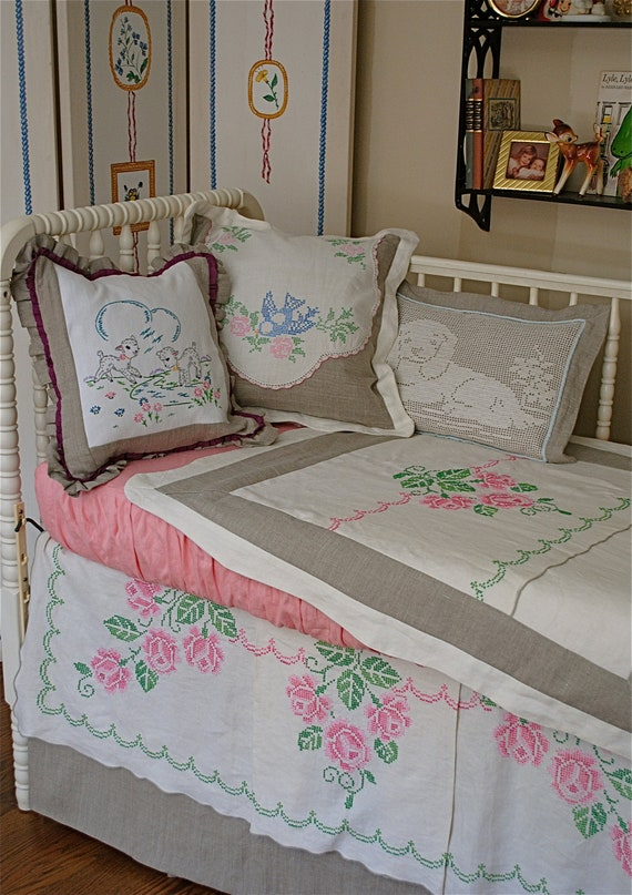 Shabby Chic Baby Bedding/Crib Bedding - Reserved Listing for Baby ...