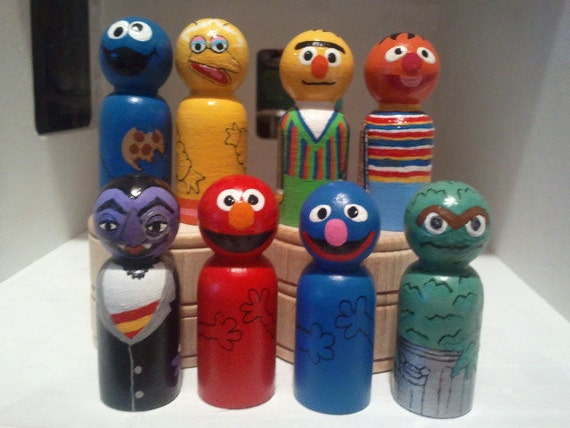 """Your Choice of """"one"""" of the  inspired Characters, wooden peg people"""