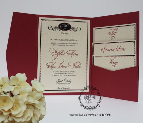 Wedding Invitations Pocket Style: Unavailable Listing On Etsy