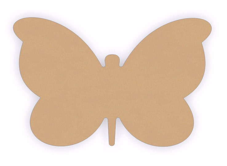 Mdf wood butterfly craft cutout shapes sizes 15 to 24 for Wood cutouts for crafts