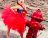 Superman Inspired Tutu Dress - Halloween Costume