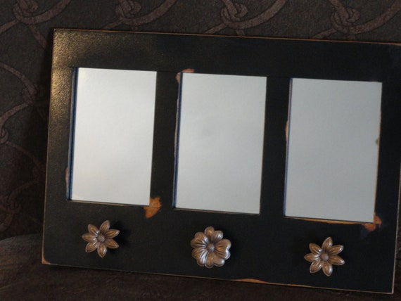 Mirrored Distressed Wall Plaque
