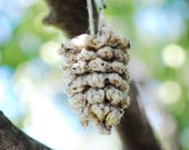 Cozy Crocheted Pinecone Ornament Christmas Decoration