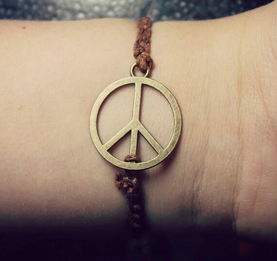 Unisex Peace Bracelet.