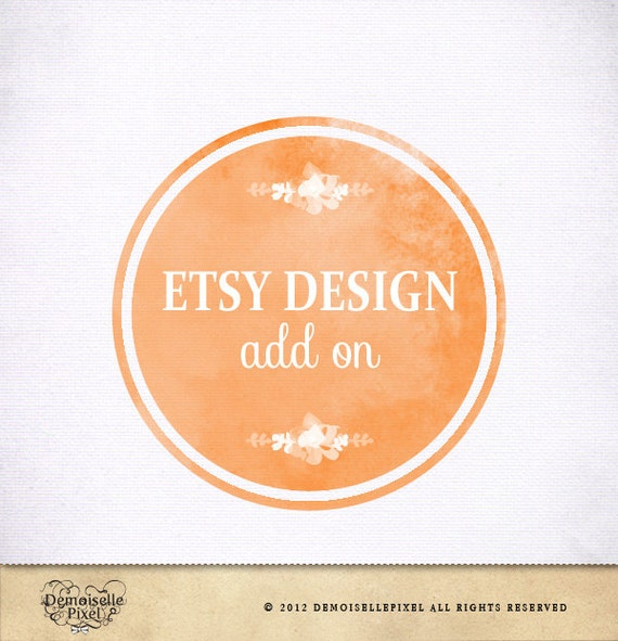 Custom Etsy Shop Design Etsy Banners, Avatar - Made to Match Your Logo - Ooak