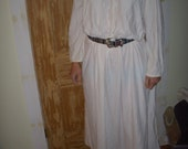Vintage Sears soft off white night gown wear as dress or nightware XS-M