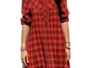 Vintage plaid flannel grunge lumberjack red and black dress