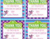 Abby Cadabby Sesame Street inspired Favor / Thank You Tags - Custom Digital File