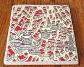 Marble Trivet  - Boston Map Design