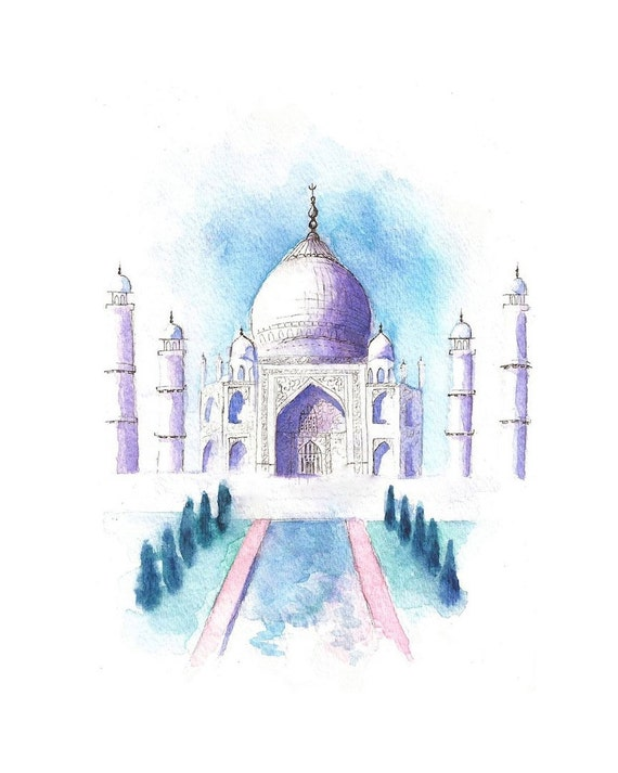 Items similar to Watercolor Travel / Landscape ...