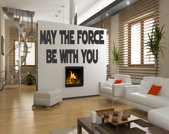 May The Force Be With You Star Wars Decal Wall Quotes Room Decor Home Stickers Vinyl Removable Letters Quote Art  (33)