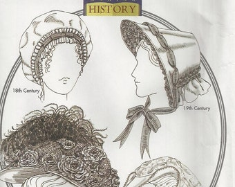 Historical HATS COSTUME Sewing Craft Pattern Uncut - 18th & 19th Century ELIZABETHEAN - Turn of the Century