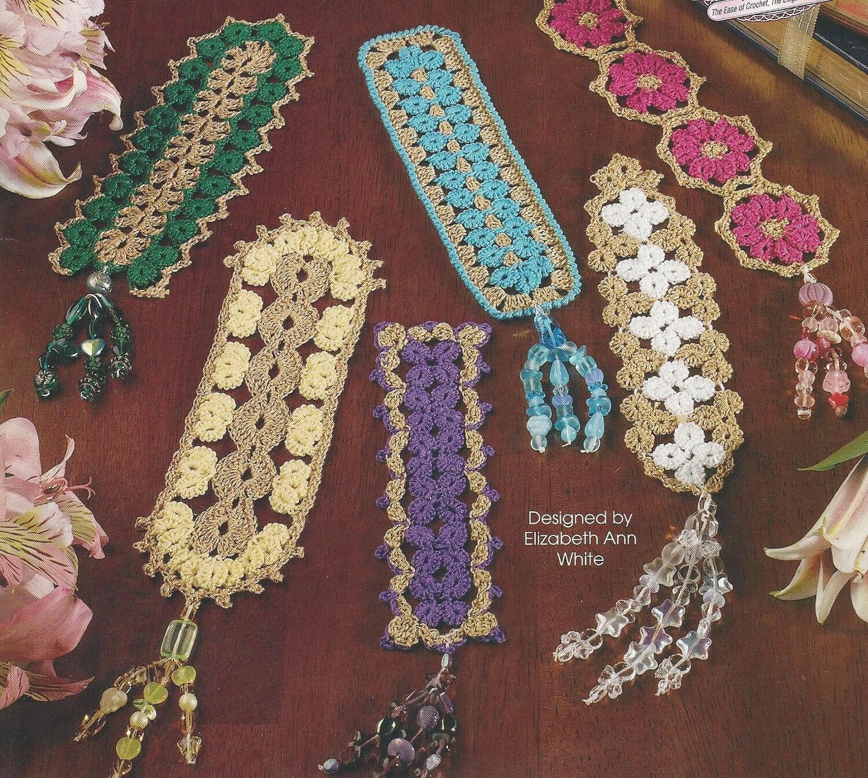 Crochet Bookmark Bead Tasseled Bookmarks Cro Tat Technique