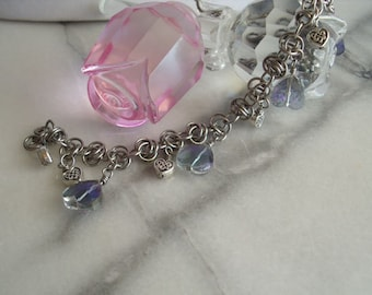 Loving Hearts Chainmaille Charm Bracelet