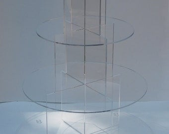 "4 tier cupcake stand, clear cupcake stand, wedding cake stand with 6"", 8"", 10"", 12"" shleves"