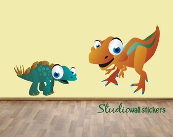 REUSABLE Dinosaur Wall Decal