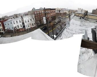 Bushwick, Brooklyn, NYC Rooftop Panoramic Cityscape (Digital Print) (Large-Scale)