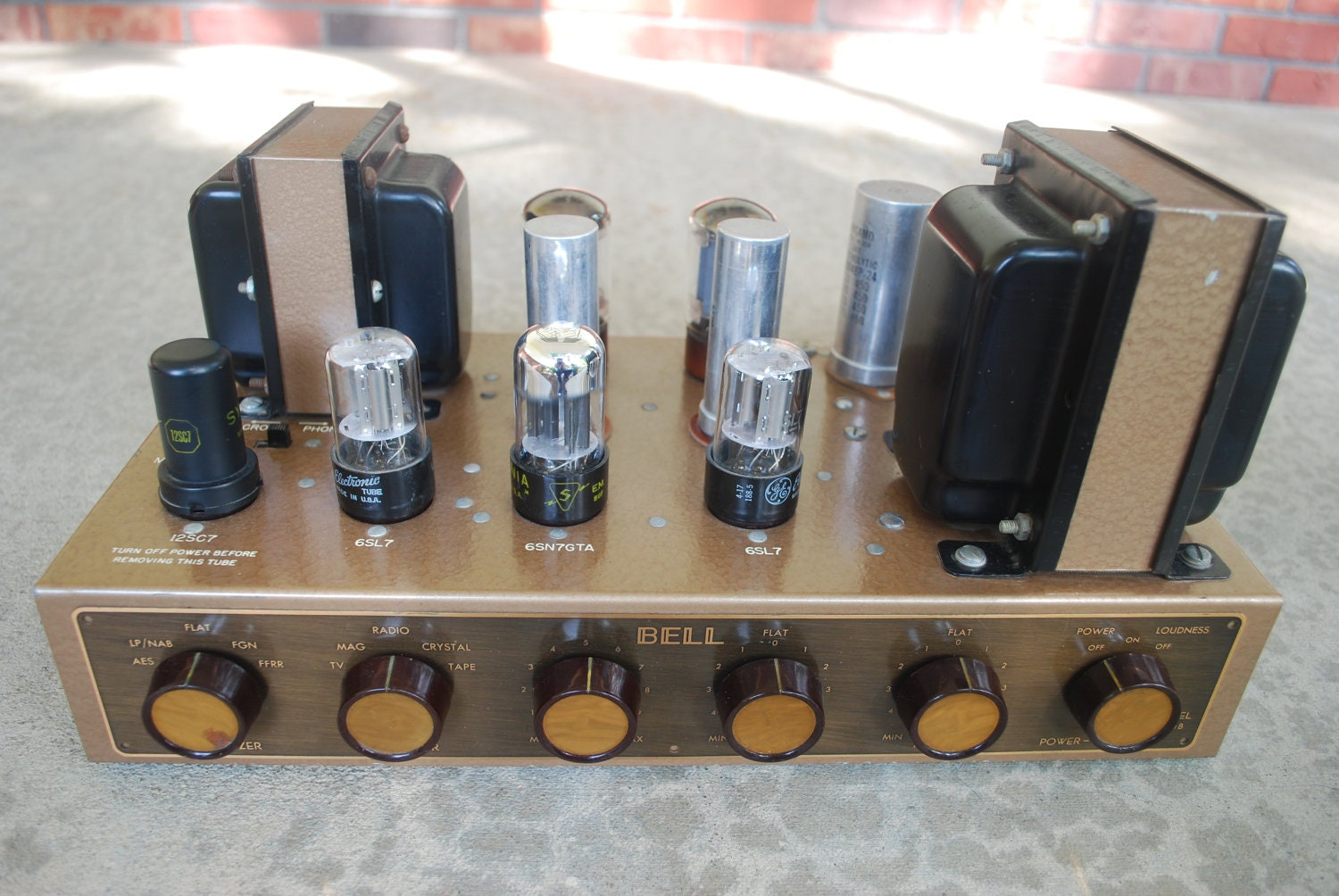 Vintage Bell 2200B Vacuum Tube High Fidelity Mono by Zebrolux